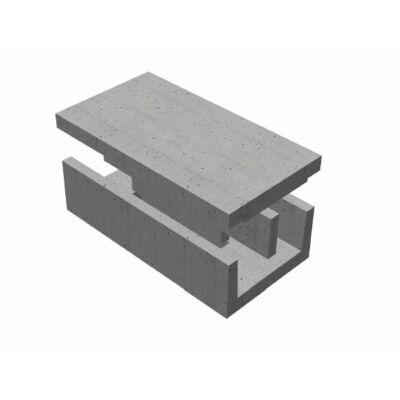 K-40 Vasúti kábelcsatorna elem