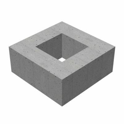 50/50/30/12 négyzet alakú bűzelzárós víznyelő akna magasító elem